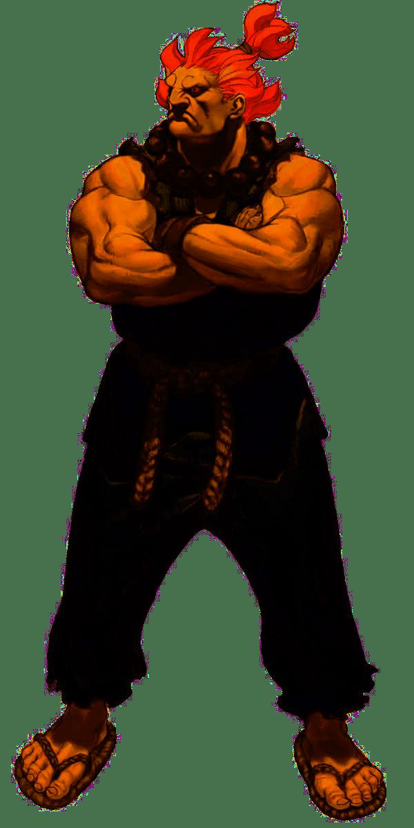 Le personnage de Super Street Fighter II Akuma