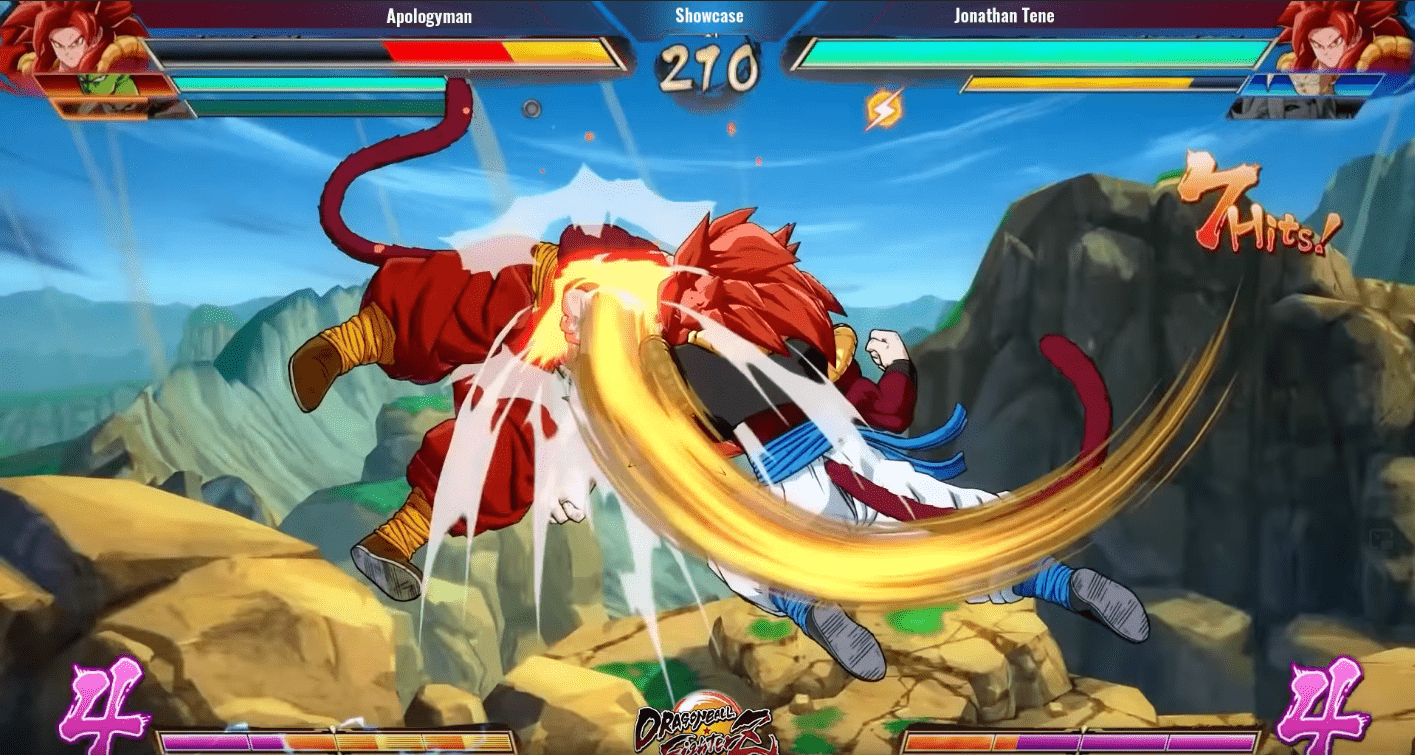 Gogeta Super Saiyen 4 gameplay Dragon Ball FighterZ