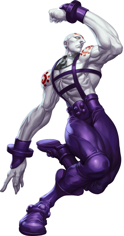 Le personnage de Street Fighter III Necro