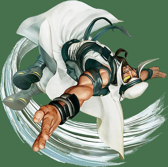 Le personnage de Street Fighter V Rashid