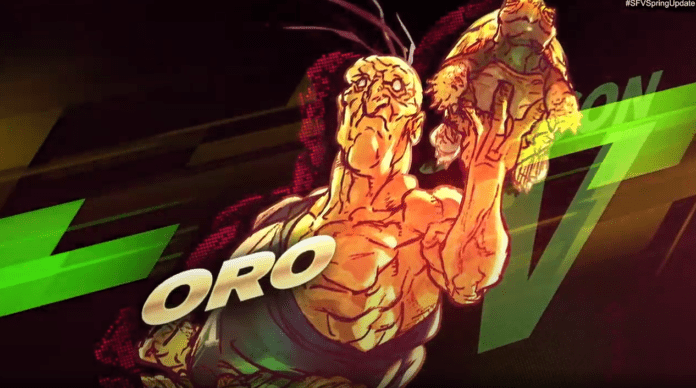 Le personnage de Street Fighter V Oro