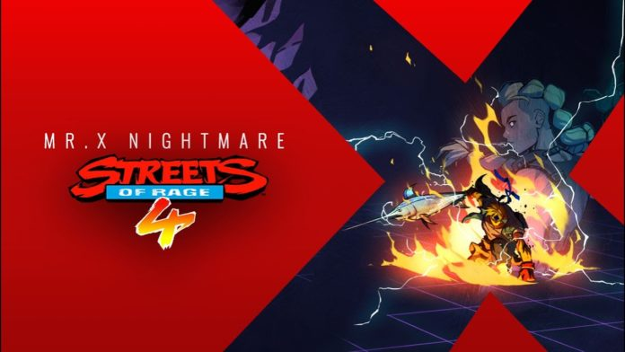 Streets of Rage 4 nouveau dlc Mr. X Nightmare