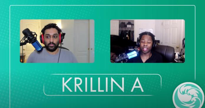 ApologyMan et LordKnight parlant de la Z Assist A de Krillin sur fond vert.