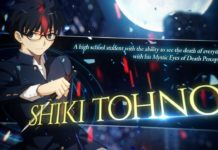 Shiki Tohno gameplay bande-annonce Melty Blood : Type Lumina