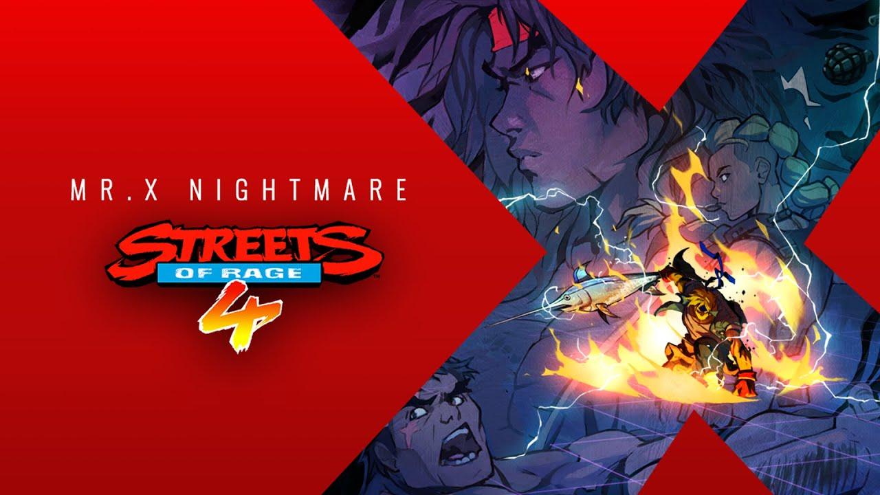 streets of rage 4 dlc Mr. X Nightmare sort le 15 juillet