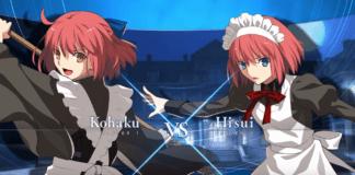 Hisui contre Kohaku dand Melty Blood: Type Lumina