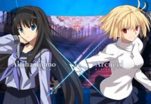 Melty Blood : Type Lumina match entre Akiha Tohno et Arcueid